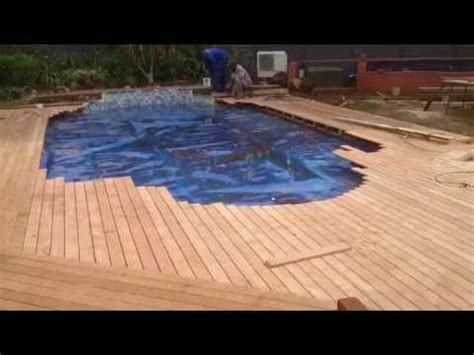 laying balau deck boards   wood joint wooden