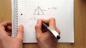 Wie Quadratmeter Berechnen : h he im gleichseitigen dreieck ausrechnen fl chengeometrie im dreieck youtube ~ Themetempest.com Abrechnung