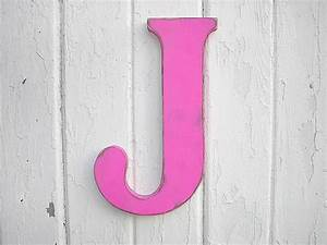 rustic wooden letter j 12 girls wall decor art fuchsia With letter j wall hanging