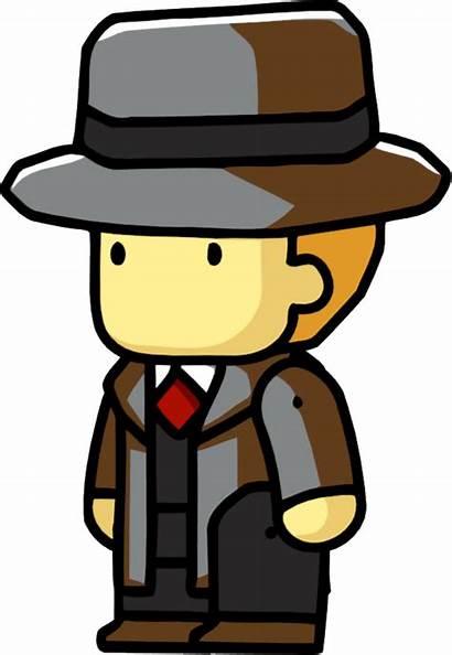 Detective Scribblenauts Clipart Transparent Hat Fedora Detetive