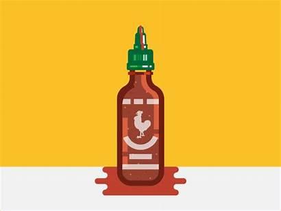 Sriracha Sauce Dribbble