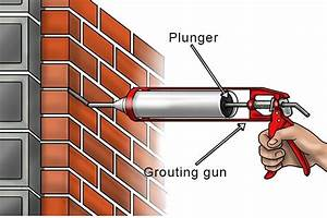 What are the parts of a pointing and grouting gun?