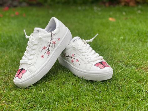 Check spelling or type a new query. Floral Butterfly Custom Skechers Custom Butterfly Trainers ...