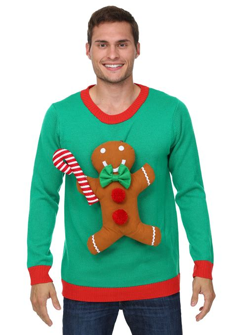 igly sweater 3d gingerbread sweater