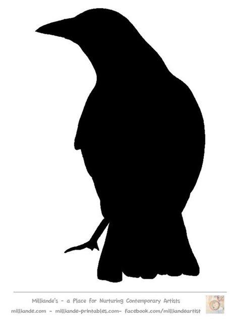 bird silhouette stencil template crow  wwwmilliande