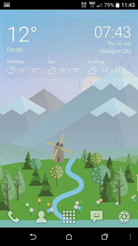 Free Animated Weather Wallpaper For Android - animated landscape weather live wallpaper free for android