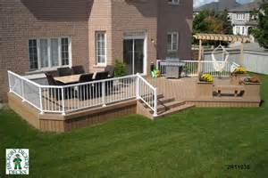 Beautiful Two Level Deck by 2 Level Diy Deck Plans