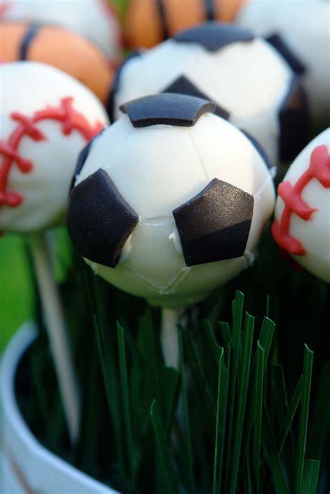 bakes sports themed cake pops