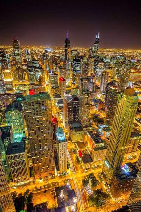 Chicago, USA | Chicago at night, Chicago travel, City