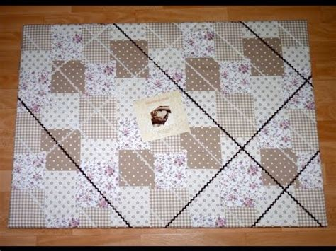 pinnwand selber machen stoff bastelanleitung f 252 r ein memory board pinnwand memo board mit stoff selber herstellen