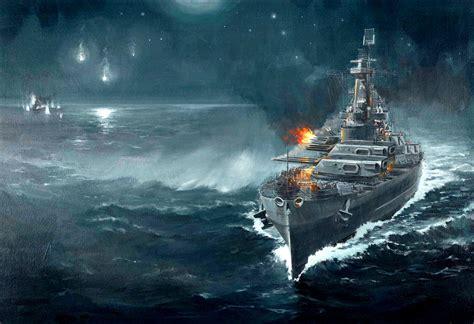 Ship War by Battleship War Battle Ship Boat Military Art Painting