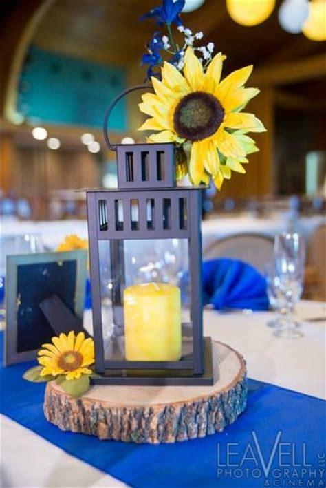 Lantern With Sunflower Wedding Centerpiece 762013