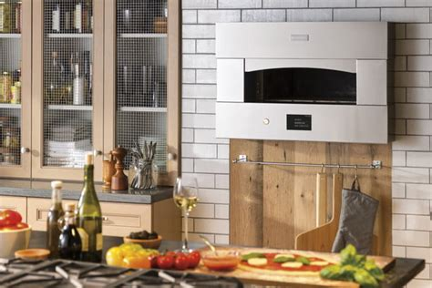 ge monogram pizza oven rapidly bakes pizza    minutes digital trends