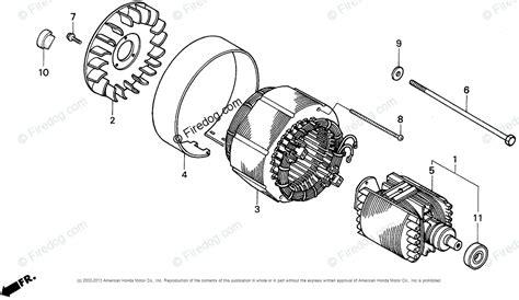 honda power equipment generator eb5000x a generator jpn vin ea7 3000001 oem parts diagram for