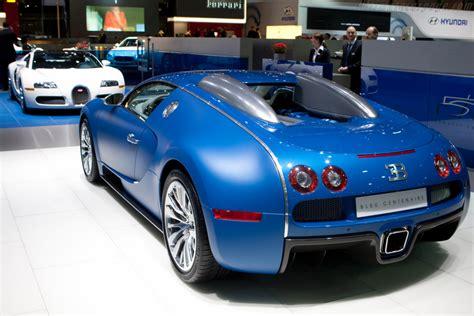 bugatti veyron 16 4 bugatti 16 4 veyron bleu centenaire 2009 geneva