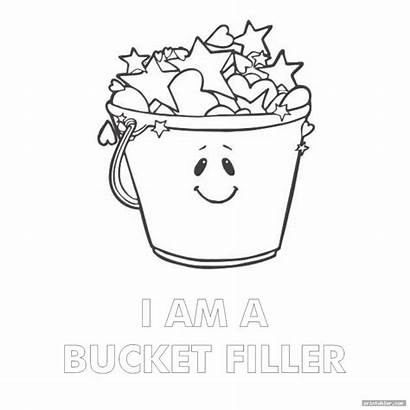 Bucket Filled Today Coloring Printable Clipart Printabler