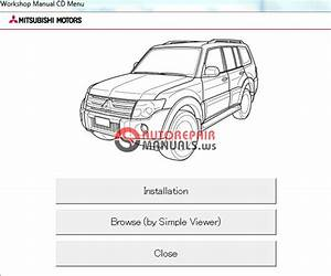 Mitsubishi Pajero 2012 Workshop Manual