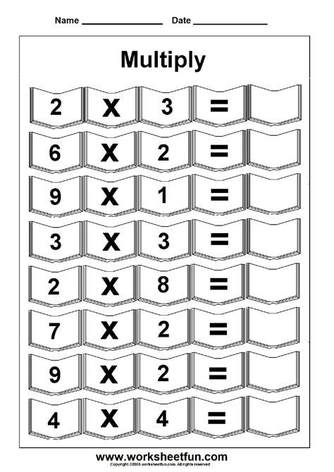 multiplication 5 worksheets free printable worksheets