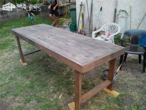 table de jardin en palettes pallets garden table  pallets