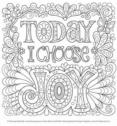 Coloring Positive Pages Printable Adult Stay Within