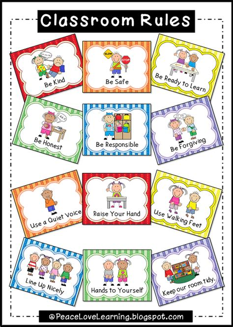 classroom rules template peace love and learning back to school giveaway