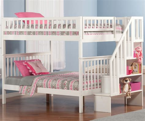 Woodland Full Over Full Stair Bunk Bed Ab56802
