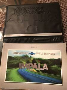 2001 Chevy Chevrolet Impala Owner U0026 39 S Owners Manual Guide