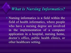 What is nursing informatics essay