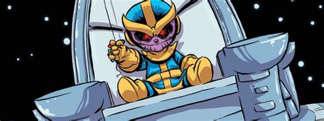 foto de Skottie Young Covers Thanos Rising #1 Marvel Heroes