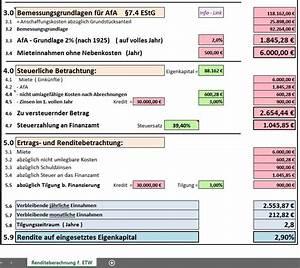 Abschreibung Eigentumswohnung Berechnen : excel vorlage rendite berechnung f r eigentumswohnung ~ Themetempest.com Abrechnung