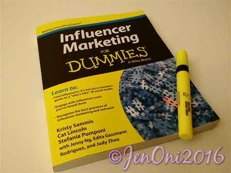 marketing for dummies book review influencer marketing for dummies jenoni