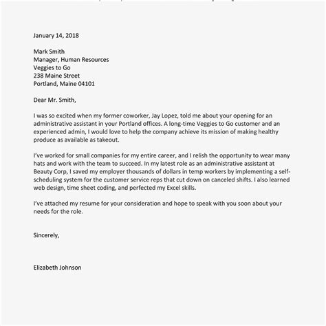 write  job application letter  samples