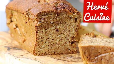 recette hervé cuisine recette cake banane amande sans beurre et sans sucre