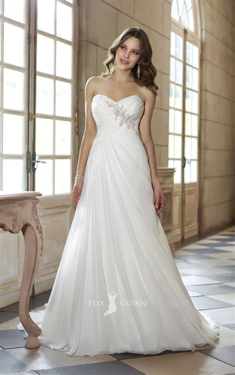 strapless sweetheart   empire asymmetrical pleated