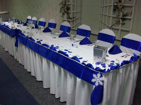 Royal Blue and White Winter Wedding Royal Blue and White