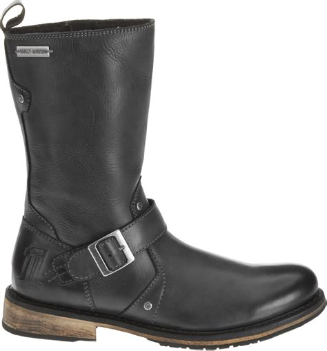 mens black motorcycle riding boots harley davidson men 39 s brendan 10 inch boots gray black