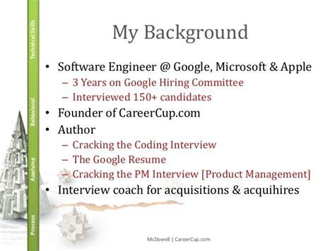 sdet resume for microsoft cracking the coding pm jan 2014