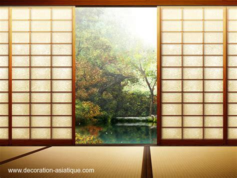 le shoji panneau coulissant japonais