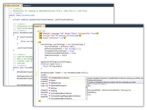 t4 template devart t4 editor for visual studio