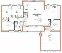 123m2 4 chambres rdc plan maison pinterest design et With superb plan maison en l 100m2 18 projets nos maisons