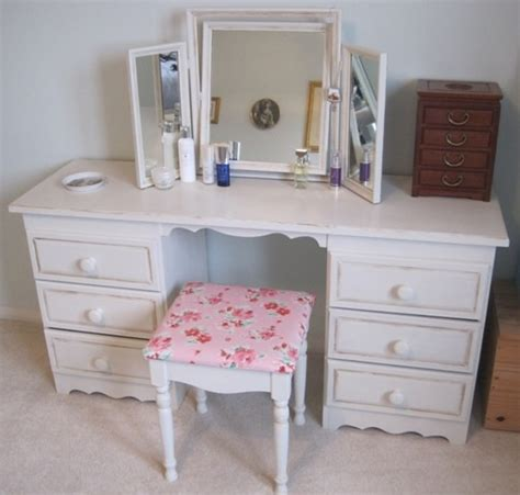 pine dressing table set painted  annie sloan