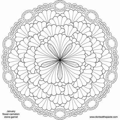 Mandala Flower Coloring Pages Hard Flowers Printable