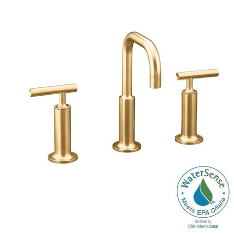 kohler purist low arc bathroom faucet brushed bronze