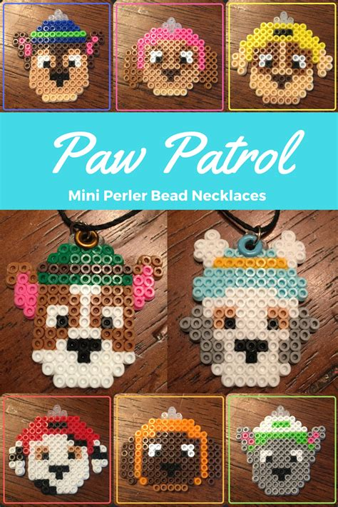 paw patrol perler bead necklaces buegelperlen