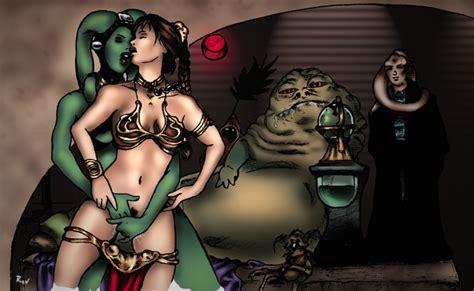 rule 34 2girls bib fortuna female green skin interspecies jabba the hutt miravi multiple girls