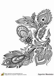 Dessin De Plume Facile : coloriage plante de fleur mandala couleur dessin gratuit imprimer ~ Melissatoandfro.com Idées de Décoration