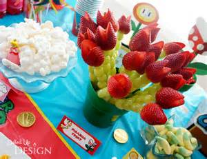 Baby Shower Platter Ideas by A Super Mario 5th Birthday
