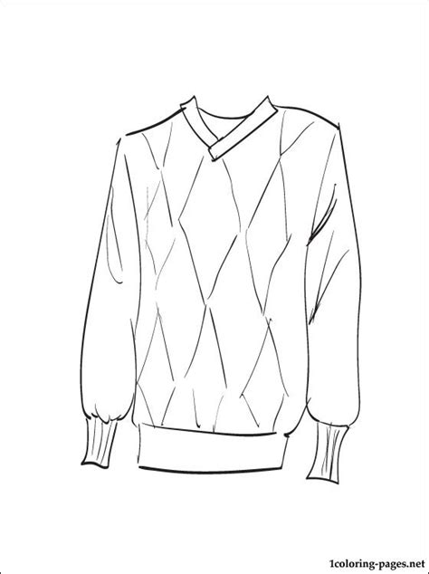 sweater coloring page coloring pages