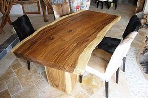 Tisch Aus Einem Baumstamm Der Tischonkel