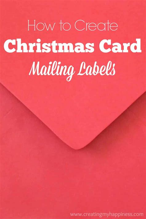 create christmas card mailing labels